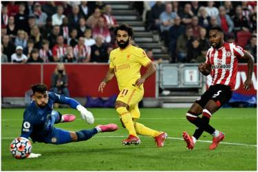 EPL: Mohamed Salah Nets 100th League Goal But Liverpool held 3-3 At Brentford