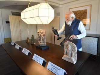 PM Modi Brings Back 157 Artefacts And Antiquities From US To India