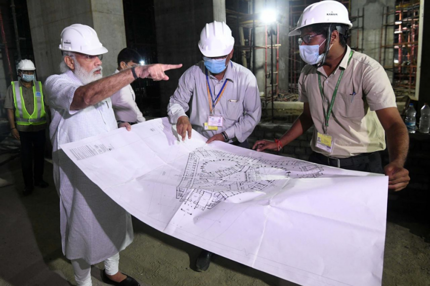 PM Modi Visits New Parliament Building Construction Site Hours After Returning From US