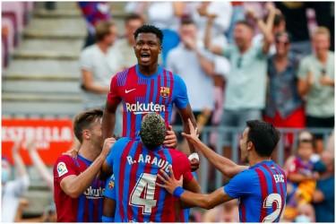 La Liga: Barcelona's New No.10 Ansu Fati Scores On Return Vs Levante