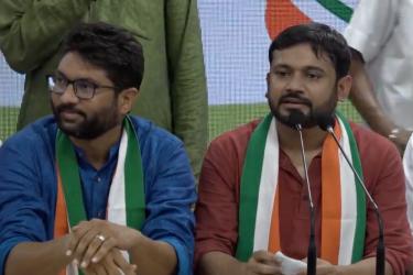 Kanhaiya Kumar, Jignesh Mevani Join Congress In Rahul Gandhi's Presence