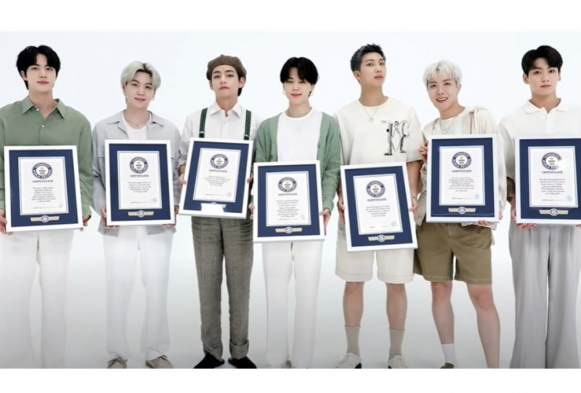 Kpop Band BTS Inducted In The 2022 Guinness World Records Hall Of Fame