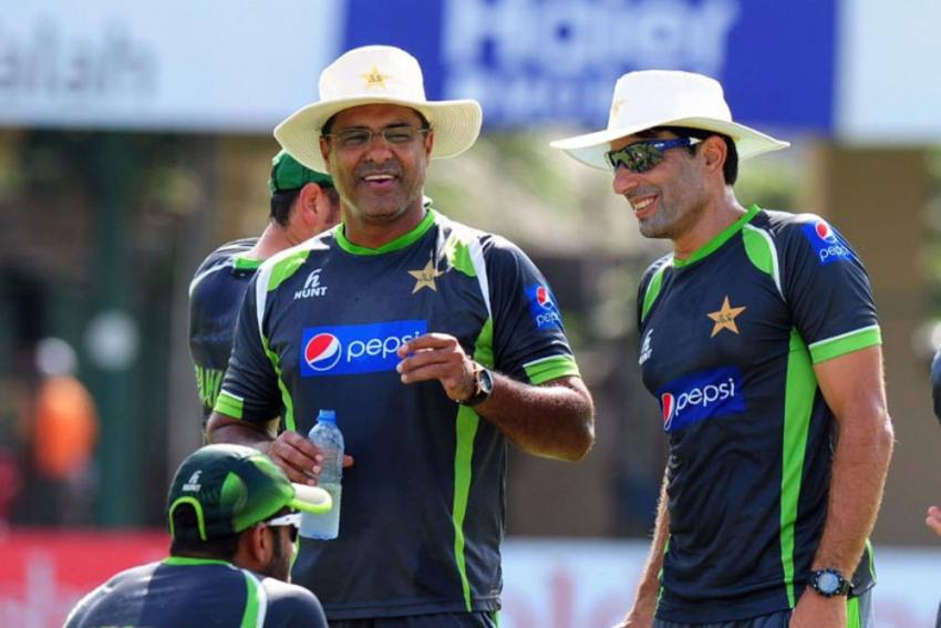 Waqar Younis, left, said that after Misbah-ul-Haq, right, shared with him his decision and future plans, it was a straightforward decision for him to resign. File Photo