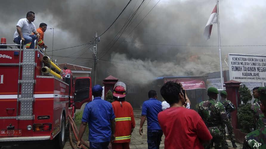 Massive Indonesia Prison Fire Kills 41 Inmates, 80 Hospitalised