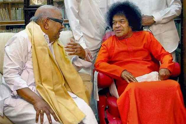 An Atheist Himself, Karunanidhi Had Much In Common With Godman Sathya Sai Baba