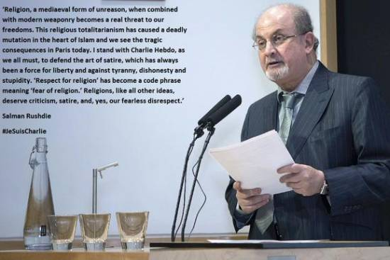 I stand with Charlie Hebdo: Salman Rushdie