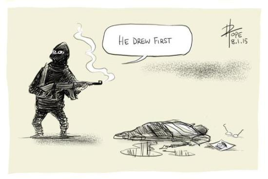 He Drew First!: Cartoonists Respond To The Charlie Hebdo Shooting