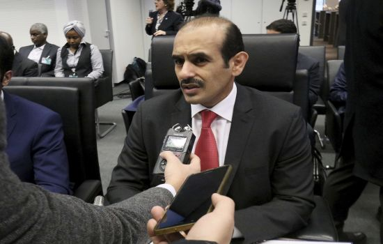 Saad Sherida Al-Kaabi Minister of State for Energy Affairs of Qatar speaks prior to the start of a meeting of the Organization of the Petroleum Exporting Countries, OPEC, at their headquarters in Vienna, Austria