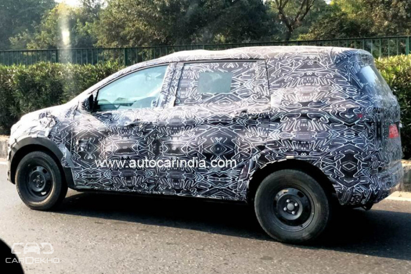 Upcoming Renault RBC MPV Spied; Gets Projector Headlamps