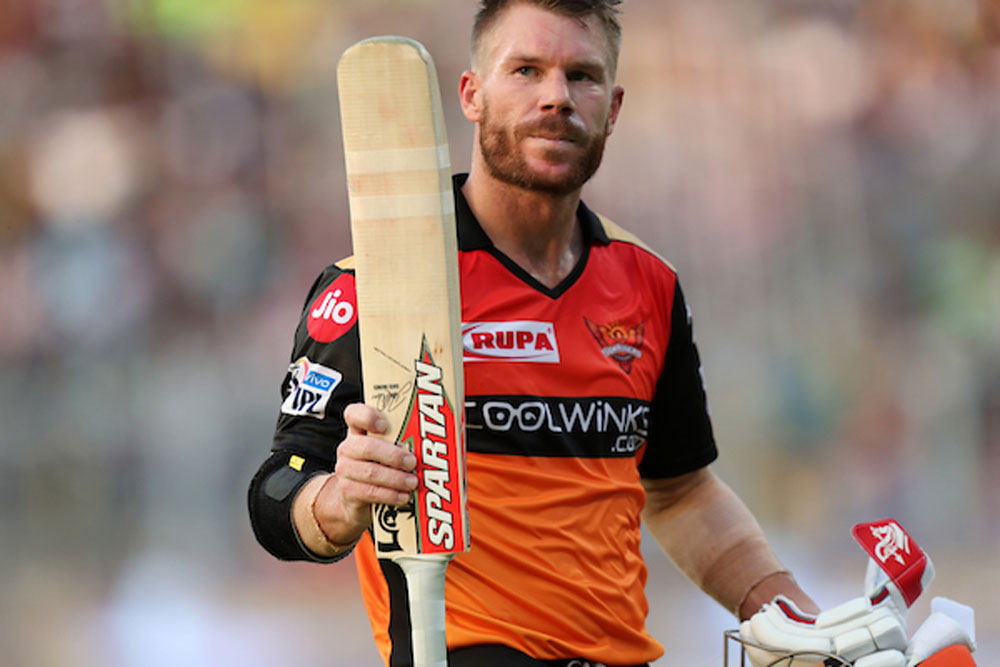 Warner made his presence felt with a blistering 85 in his IPL comeback match