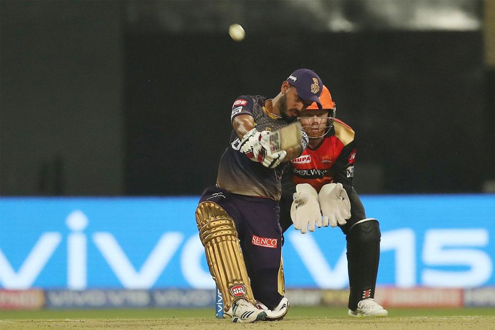 Nitish Rahis hits his 4th IPL fifty