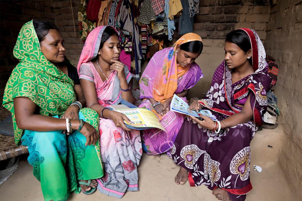 Women at an Anganwadi centre