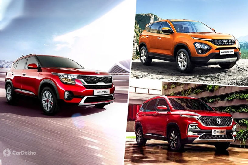 Kia Seltos vs MG Hector vs Tata Harrier: Which SUV Offers More Space?