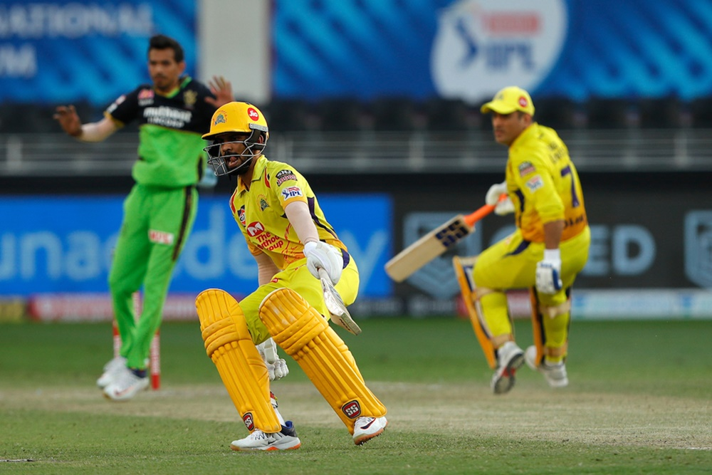 Ruturaj Gaikwad emerged as a solid option at Number 3 for CSK, a position that was left vacant after Suresh Raina left the tournament. Photo: BCCI