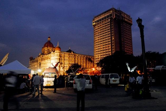 Media outside Taj Hotel