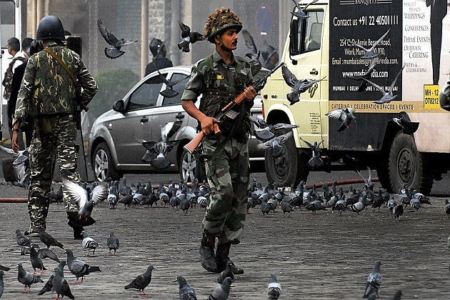 Police officers in Mumbai