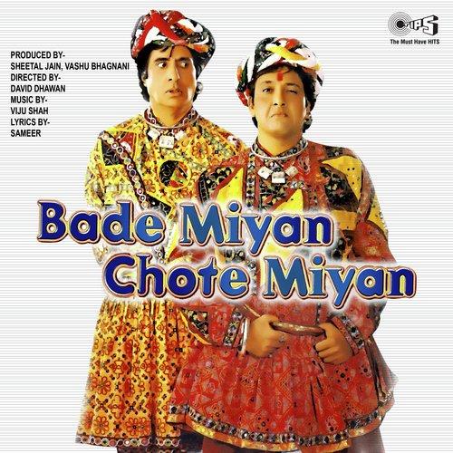 Poster of Amitabh Bachchan and 'Govinda's Bade Miya Chote Miya'
