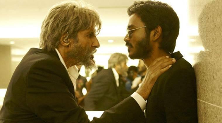 Amitabh Bachchan and Dhanush in a still from Shamitabh