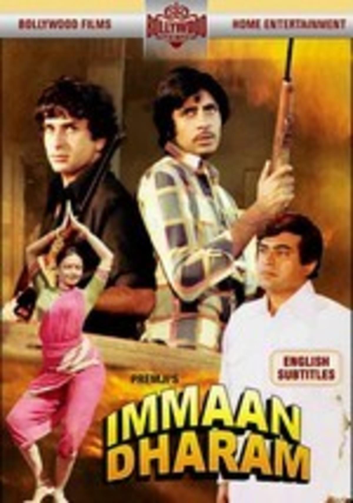 Poster of Amitabh Bachchan starrer Immaan Dharam