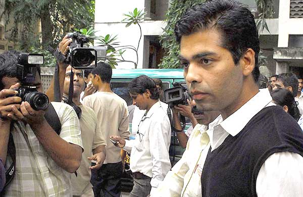 Outlook Photogallery Film Director Karan Johar Outside Mns Chief