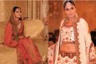 <b>Frontier Fashion</b> Left, Karachi socialite Saira Khowaja dons Ritu Kumar bridal wear; Pakistani model Iraj wears Rohit Bal