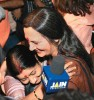 <b>Women first</b> CPI(M)'s Brinda Karat and BJP's Sushma Swaraj embrace each other