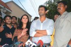Game on Sania, Shoaib address the media outside her house in Hyderabad