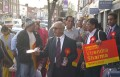 Virendra Sharma, Labour MP from Southall, London, on the road with supporters