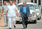 Sharad Pawar with BCCI's Shashank Manohar in Delhi on Apr 20