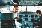 Praful Patel in one of Air India's new Airbuses in 2006