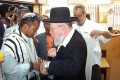 Kiryat Arba's chief rabbi at the circumcision ceremony of Khaute's third son