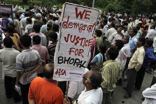 From a protest in Calcutta