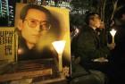 A vigil for Liu in Hong Kong