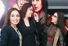 <b>Curved mirror</b> Rani and Vidya with Sabrina Lall after the screening of the film