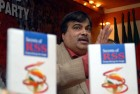 <b>Open page?</b> Gadkari at a book release