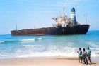 <b>MV River Princess</b> Stranded for 10 years now, the grounded ship has been wreaking ecological havoc on Candolim beach in Goa