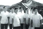 <b>Old links</b> Isak Chisi Swu (extreme left), T. Muivah (fourth from left) and other Naga leaders in China in 1968