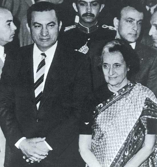 Mubarak And India