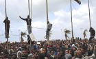 <b>Rumbling ground</b> Anti-Gaddafi protesters in the defiant eastern city of Benghazi