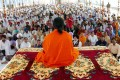 <b>Canvassing support?</b> Baba Ramdev at a yoga shivir in Amritsar, circa 2006