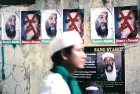 <b>The lynchpins</b> Posters at a prayer meeting for Osama held by a radical group, 'Islam Defenders Front', in Jakarta on May 4