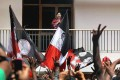 <b>Darshan Time</b> Jayalalitha greets her supporters after the big victory