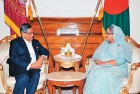 S.M. Krishna met Bangladesh PM Sheikh Hasina in Dhaka on July 7. They reaffirmed the 'high trajectory' of bilateral cooperation.