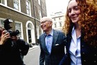 Murdoch and Rebekah Brooks in London on July 10