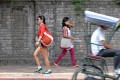 Practical expression Short shorts are a common sight on Delhi University campuses