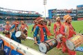 Pageantry at an IPL game in Ferozeshah Kotla, New Delh
