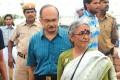 Prashant Bhushan and Aruna Roy at the Ramlila Maidan