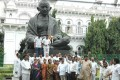MLAs who resigned in Jaganmohan Reddy's support outside the Andhra assembly