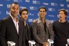 <b>Familiar face</b> Toronto film festival fixture Akshay Kumar with the cast of <i>Breakaway</i>