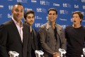 <b>Familiar face</b> Toronto film festival fixture Akshay Kumar with the cast of <i>Breakaway</i>